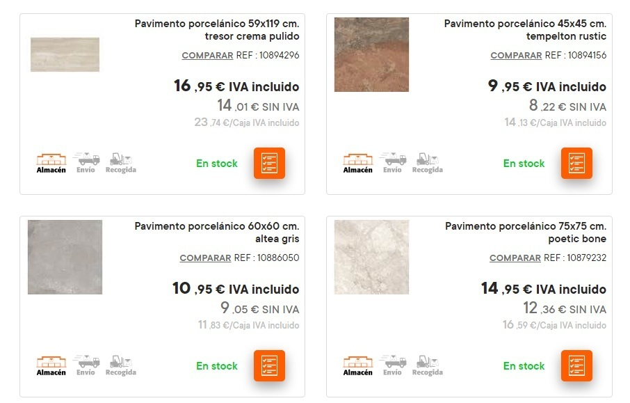 Catalogo bricomart anual CERAMICA pavimento porcelanico liso