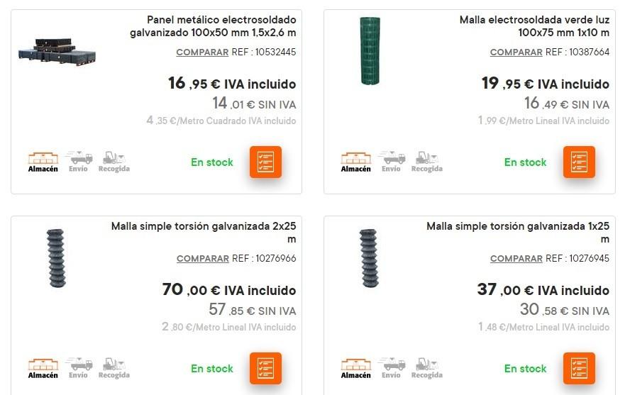 Catalogo bricomart anual CERCADOS mallas