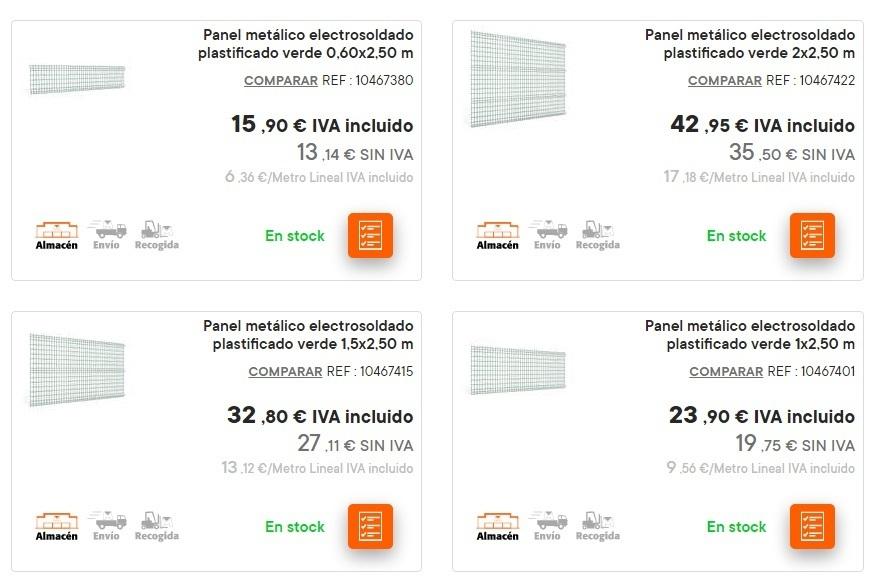 Catalogo bricomart anual CERCADOS paneles