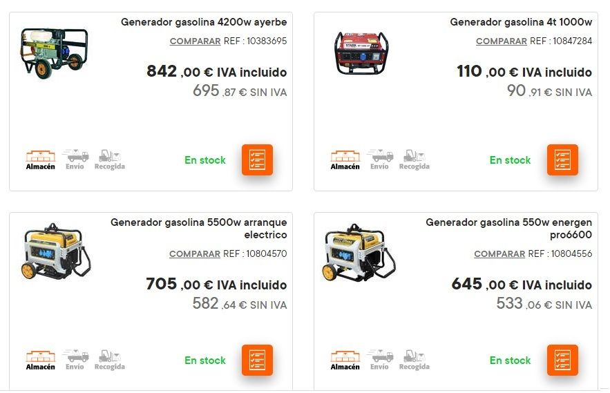 Catalogo bricomart anual HERRAMIENTRAS generadores