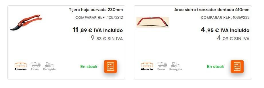 Catalogo bricomart anual HERRAMIENTRAS herramienta de poda