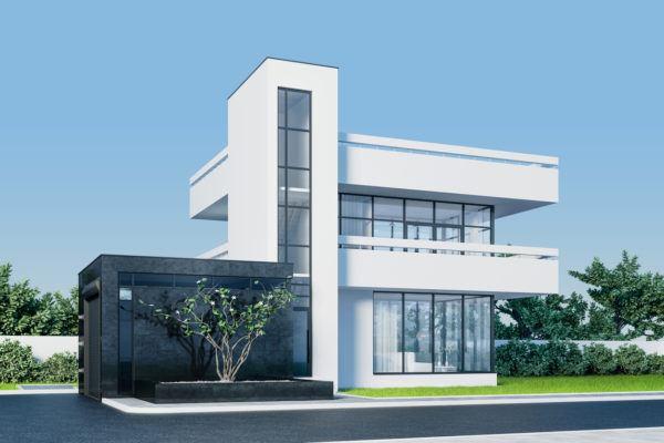 Mejores fotos ideas para fachadas casas minimalistas blanco negro