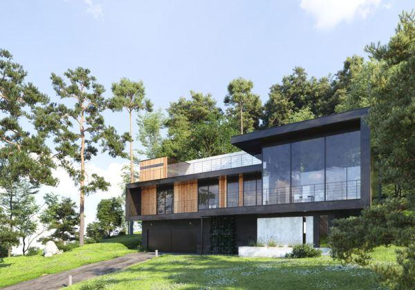 Mejores fotos ideas para fachadas casas minimalistas vidrio