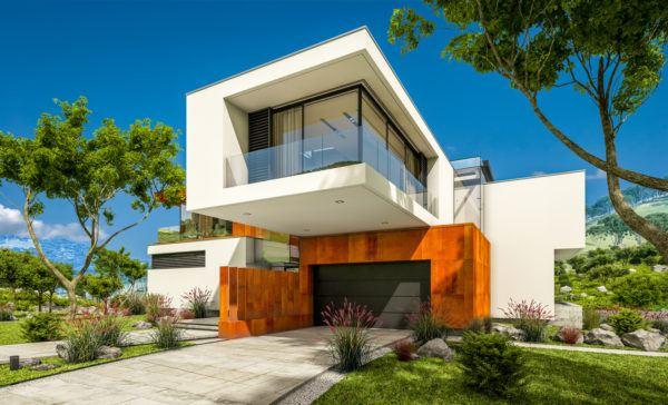 Mejores fotos ideas para fachadas casas modernas doble piso cubo