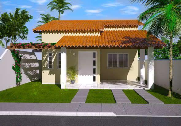 Mejores fotos ideas para fachadas casas pequenas Fachada de casa sencilla con pérgola en la entrada