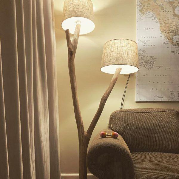 Mejores ideas para hacer lamparas caseras con materiales reciclados lampara con rama