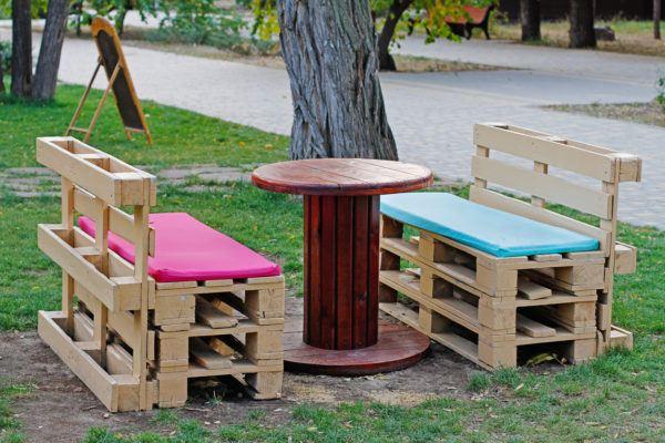 Mejores ideas para hacer muebles madera reciclada banco silla jardn