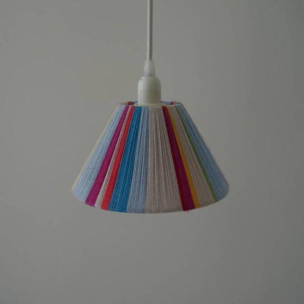 Mejores ideas reciclar lamparas con hilo
