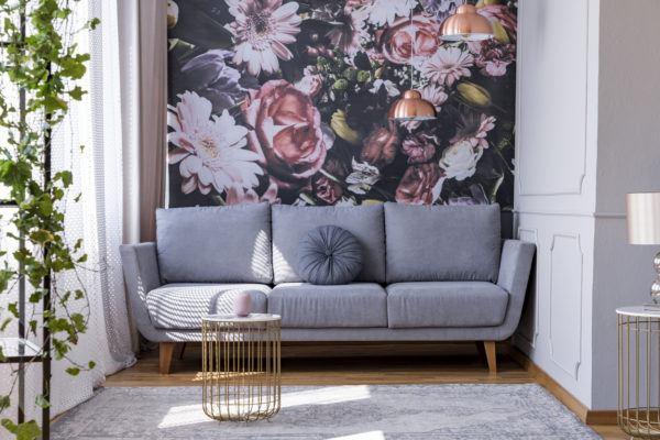 Como decorar paredes casa con papel pintado floral