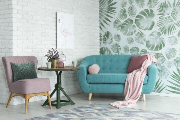 Como decorar paredes casa con papel pintado infantil flores