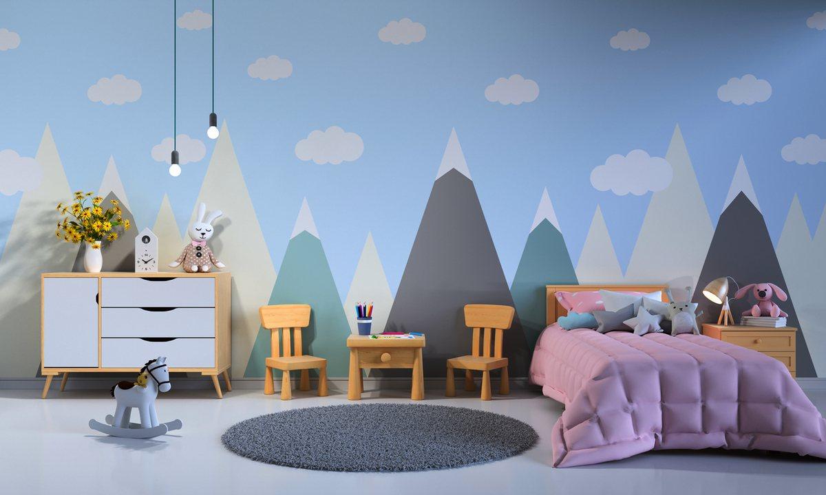 Como decorar paredes casa con papel pintado infantil