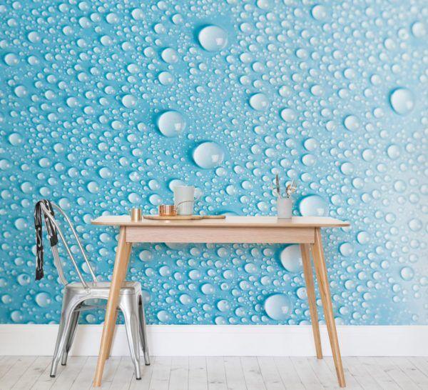 Como decorar paredes casa con papel pintado papel burbujas