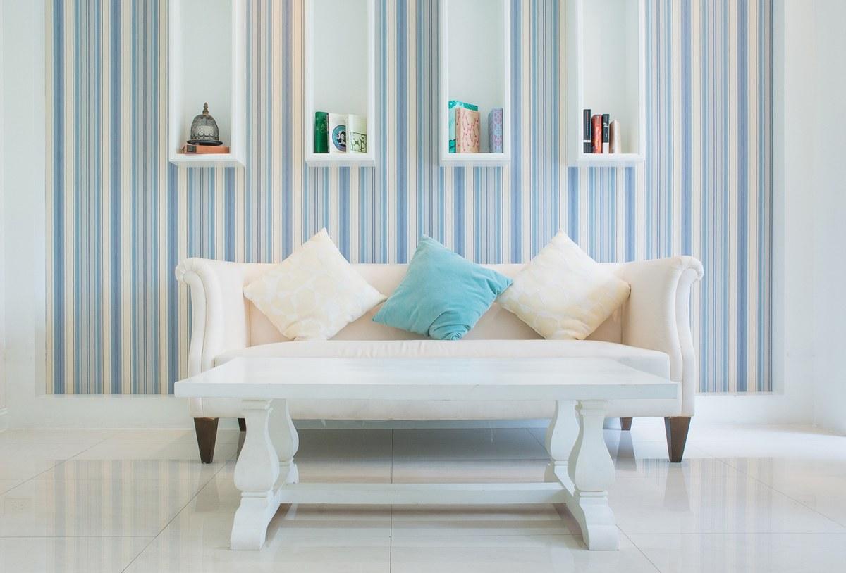 Como decorar paredes casa con papel pintado rayas