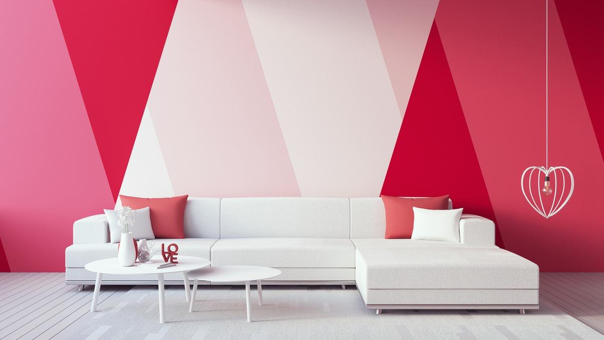 Como decorar paredes casa con papel pintado rojo rosa