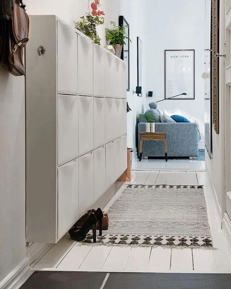 Como decorar un pasillo estrecho zapatos