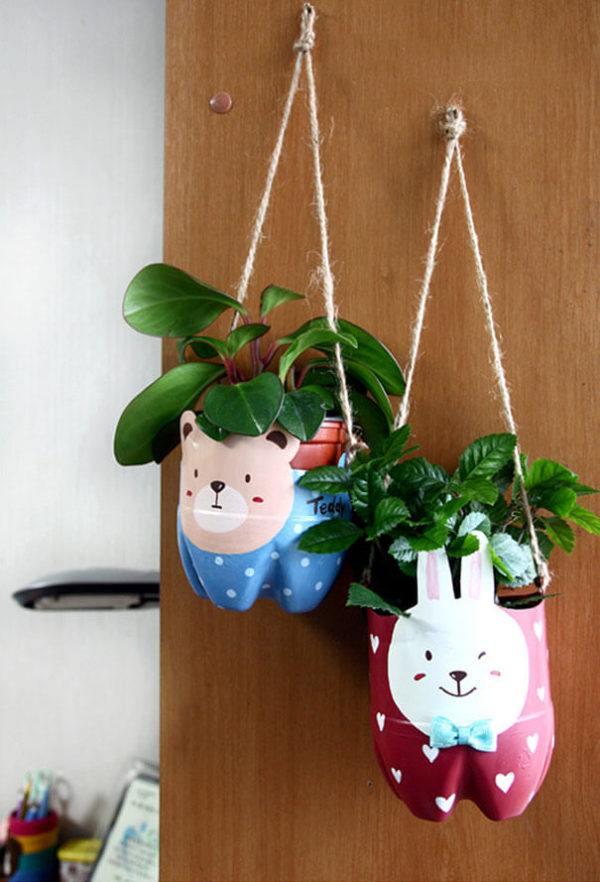 Ideas para hacer macetas con garrafas de agua plantas colgantes