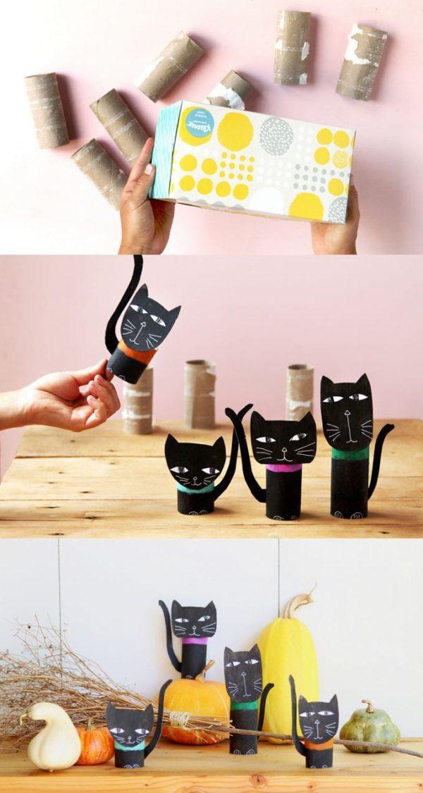 Mejores manualidades dia internacional gato familia gatos rollos