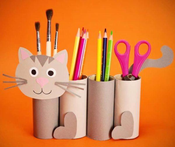 Mejores manualidades dia internacional gato gato con rollos papel