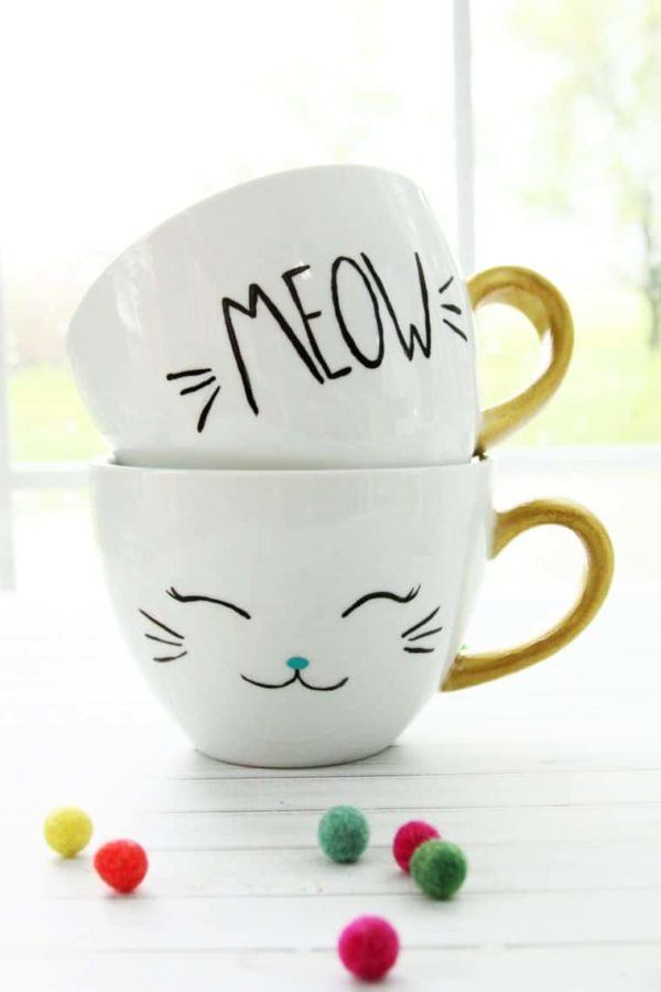 Mejores manualidades dia internacional gato taza gato