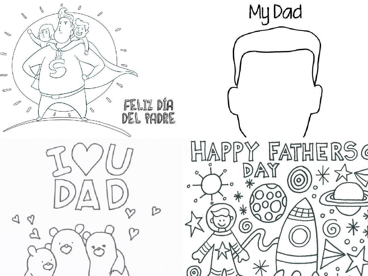 Dibujos para colorear para el Día del Padre portada