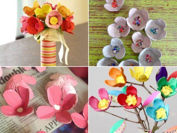 Las Mejores Ideas Para Hacer Flores Con Cartón De Huevo Bricolaje10 Com