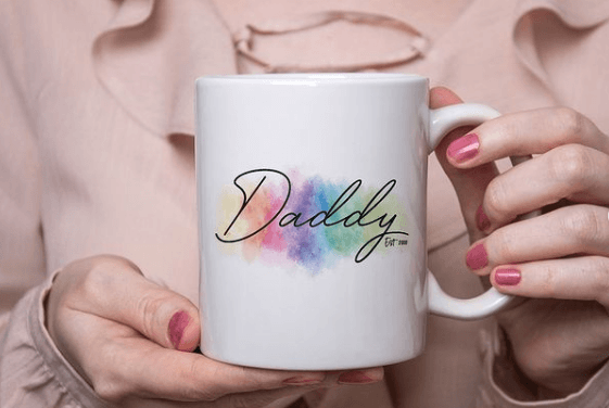 Taza decorada para el Día del Padre daddy elegante