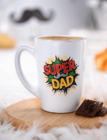 Taza decorada para el Día del Padre Super Dad