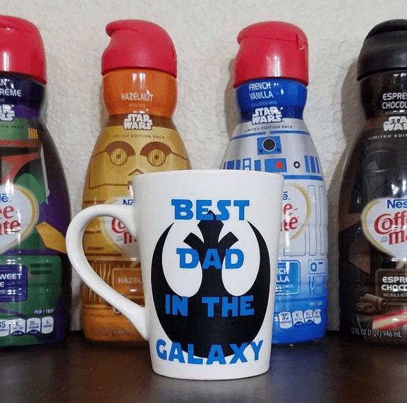 Taza decorada para el Día del Padre Star Wars