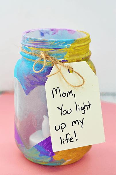 Manualidades fáciles Día de la Madre para niños jarra pintura
