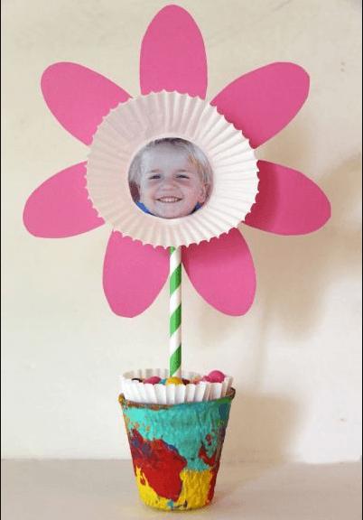 Los mejores regalos para el Día de la Madre con cartulinas flor con foto