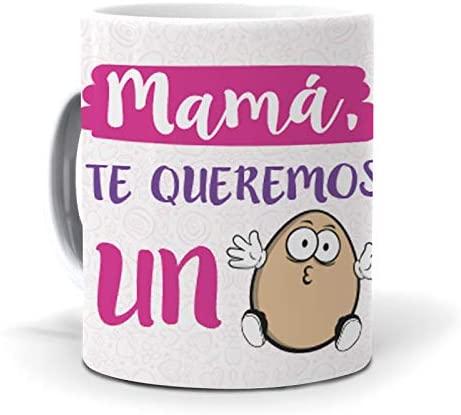 Taza decorada para el Día de la Madre un huevo