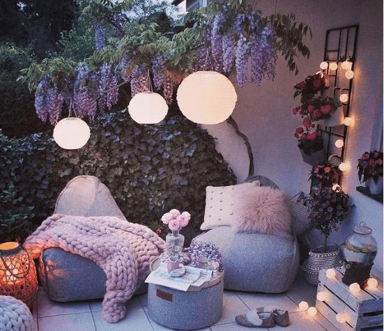 30 Ideas para decorar la terraza en Primavera Verano gris