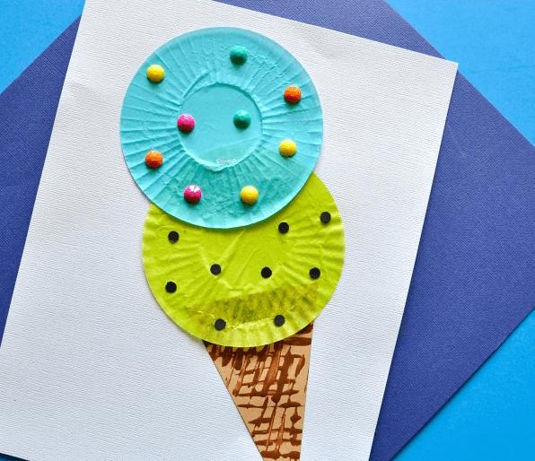 Manualidades fáciles de verano para niños helado plastilina