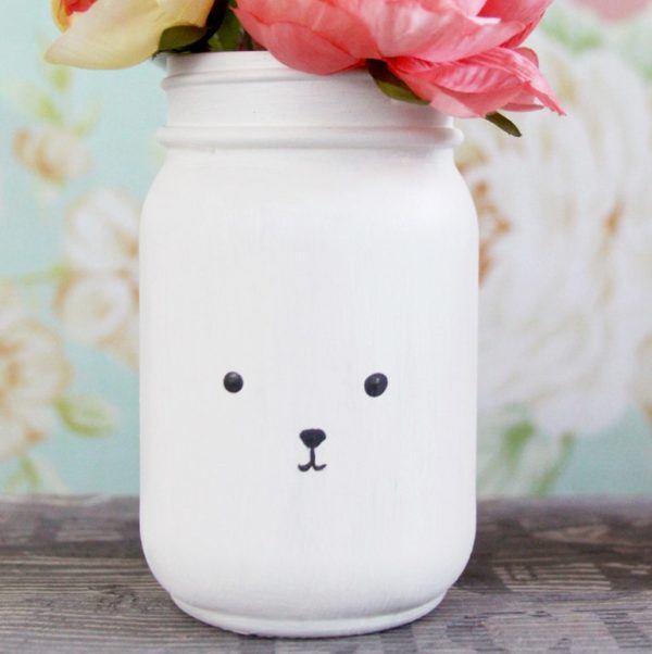 Manualidades fáciles de verano para niños jarra de oso