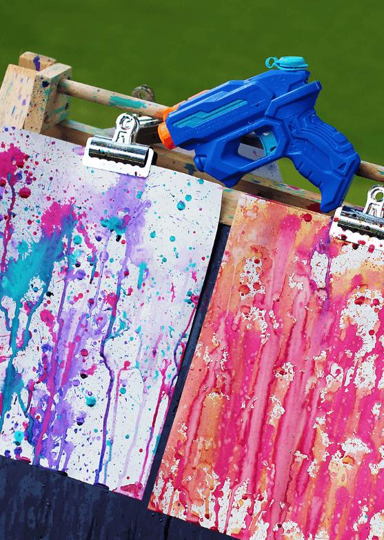 Manualidades fáciles de verano para niños pistola de color