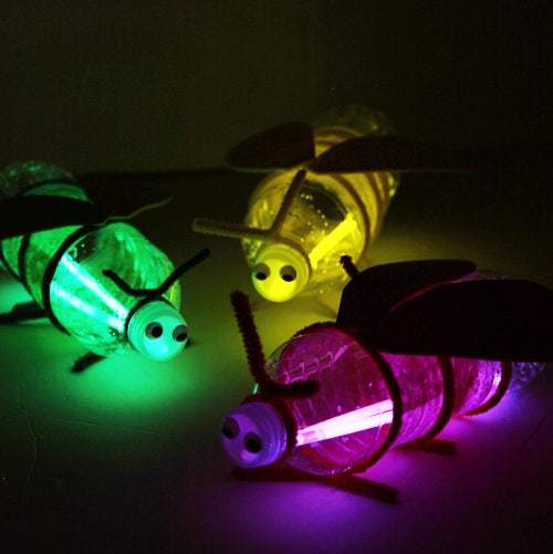 Las mejores manualidades con materiales reciclados para niños de 5 años libélulas led