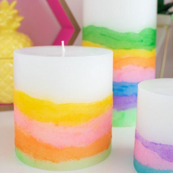 Las mejores manualidades con materiales reciclados para niños de 5 años velas colores