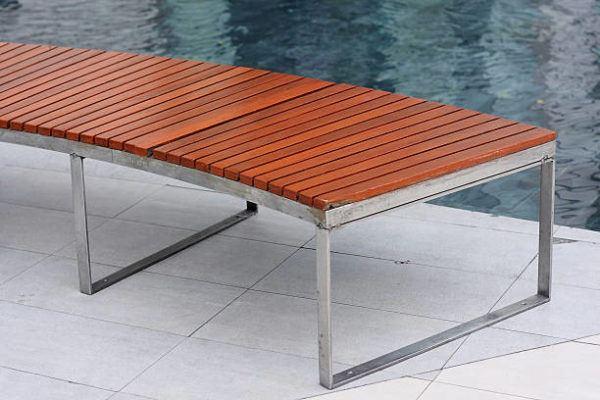 Como hacer banco madera piscina paso a paso