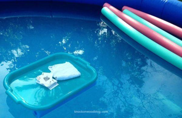 Las mejores ideas para hacer tus accesorios de piscina FOTOS bandeja flotante