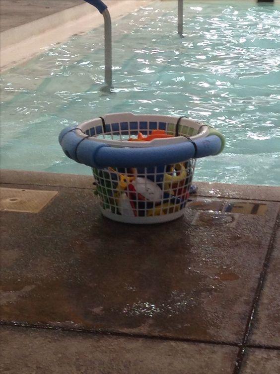 Las mejores ideas para hacer tus accesorios de piscina FOTOS canasta juguetes