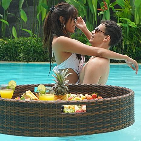 Las mejores ideas para hacer tus accesorios de piscina FOTOS cesta bebidas