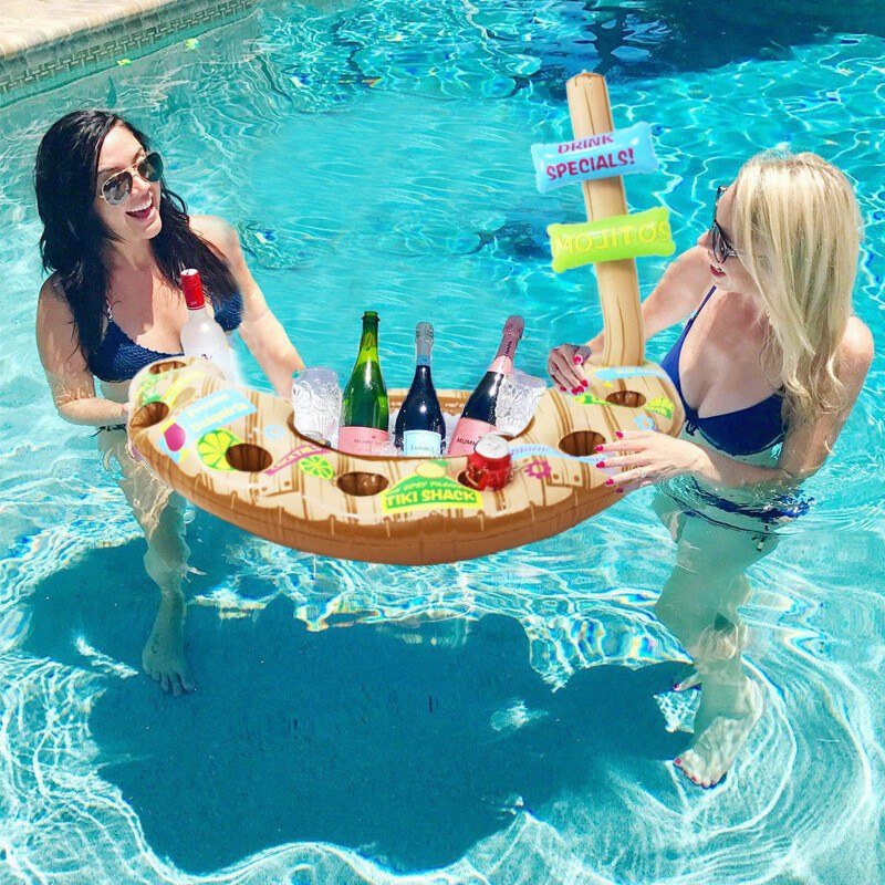 Las mejores ideas para hacer tus accesorios de piscina FOTOS colchoneta bebida