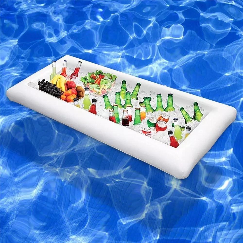 Las mejores ideas para hacer tus accesorios de piscina FOTOS colchoneta para bebidas
