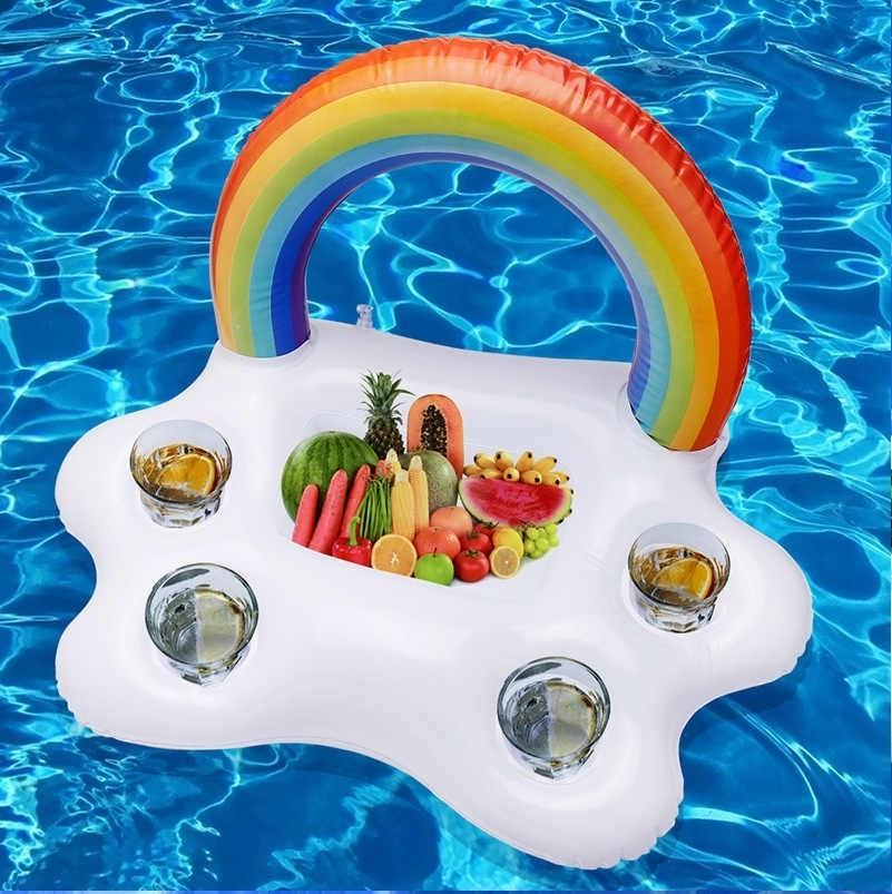 Las mejores ideas para hacer tus accesorios de piscina FOTOS flotador para bebidas