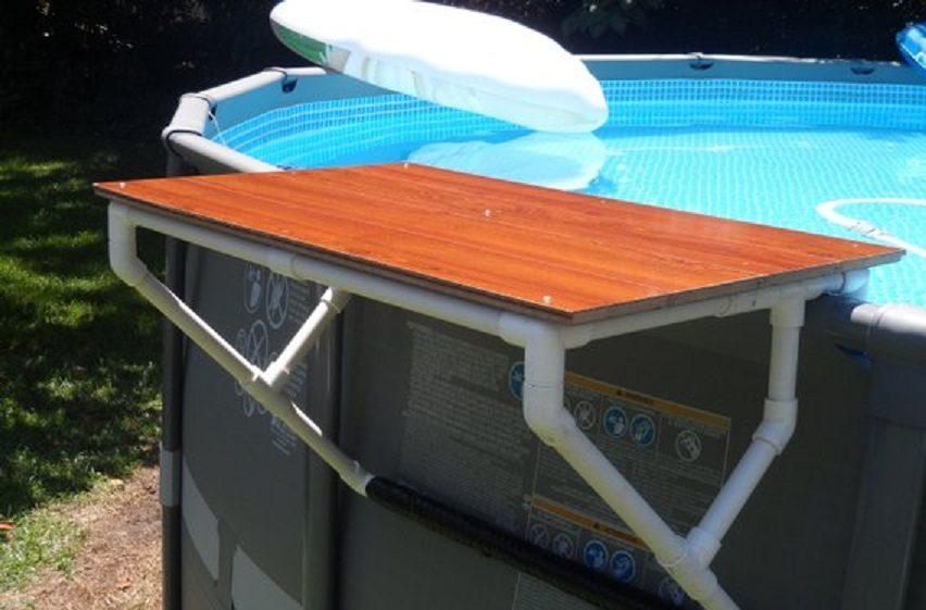 Las mejores ideas para hacer tus accesorios de piscina FOTOS mesa