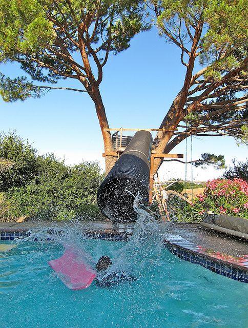Las mejores ideas para hacer tus accesorios de piscina FOTOS tobogan tubo