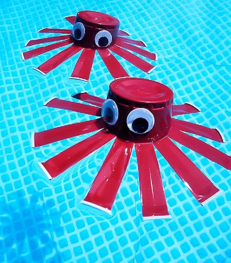 Las mejores ideas para hacer tus accesorios de piscina FOTOS vasos flotantes