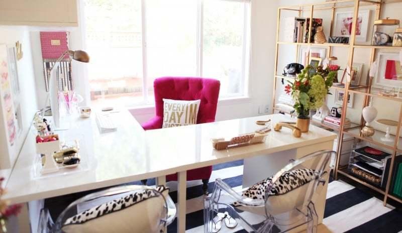 escritorio en forma de l de oficina completa