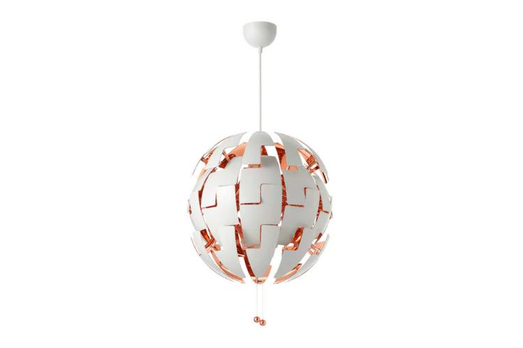 Lámpara IKEA PS 2014, blanco-cobre