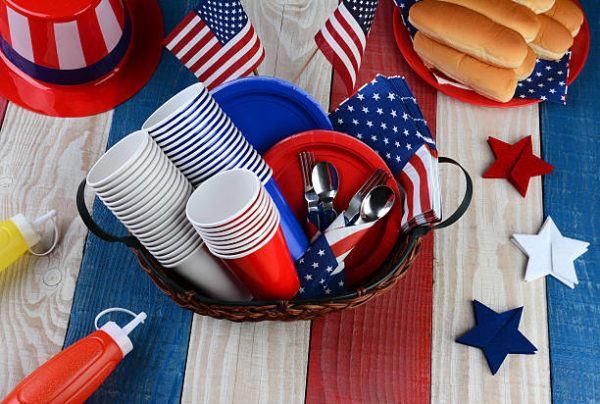 Como decorar nuestra casa para el dia de la independencia de los eeuu FOTOS elementos mesa
